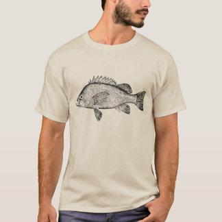 Galet skor den svart fisken t shirt