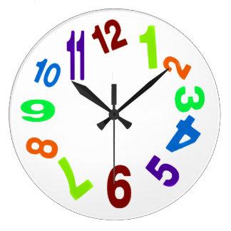 Galet ta tid på stor klocka