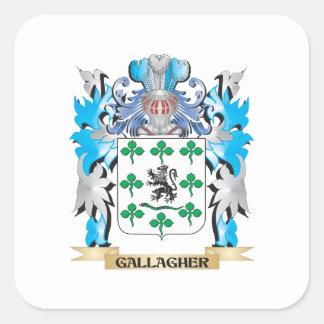 Gallagher vapensköld - familjvapensköld fyrkantigt klistermärke