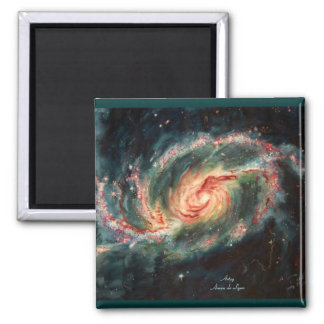 Gallerförsedd spiral galax magnet