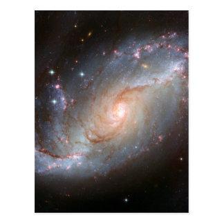 Gallerförsedd spiral galax, NGC 1672 Vykort