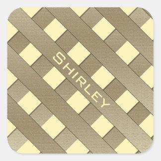 Gallerstaket av Shirley Taylor Fyrkantigt Klistermärke