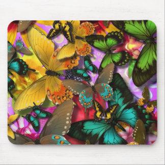 Galna fjärilar mus mattor
