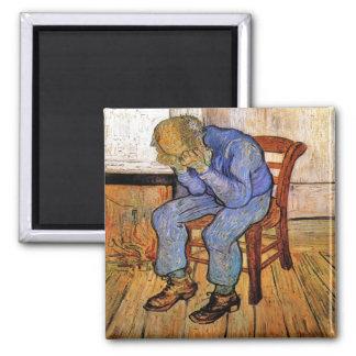 Gamal man i sorg av Vincent Van Gogh 1890 Magnet