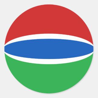 Gambia Fisheye flaggaklistermärke Runt Klistermärke
