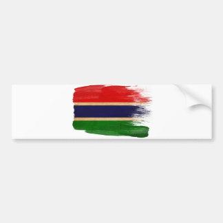 Gambia flagga bildekal