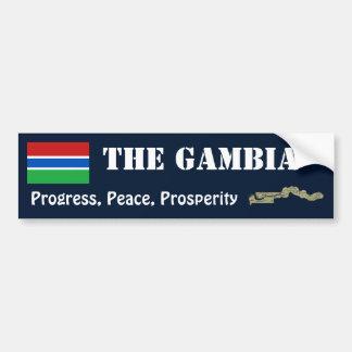 Gambia flagga + Kartabildekal Bildekal