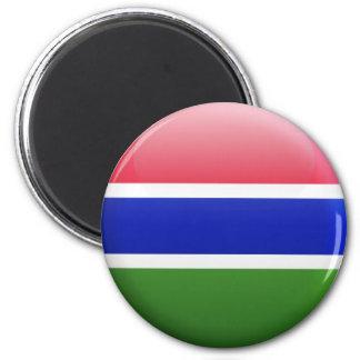 Gambia flagga magnet