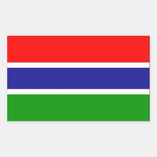 Gambia flagga rektangulärt klistermärke