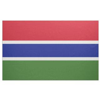 Gambia flagga tyg
