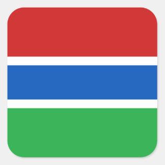 Gambia flaggaklistermärke fyrkantigt klistermärke