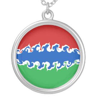 Gambia Gnarly flagga Halsband Med Rund Hängsmycke