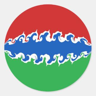 Gambia Gnarly flagga Runt Klistermärke
