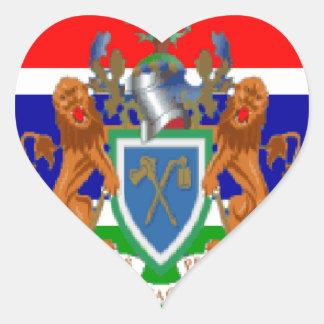 gambia hjärtformat klistermärke