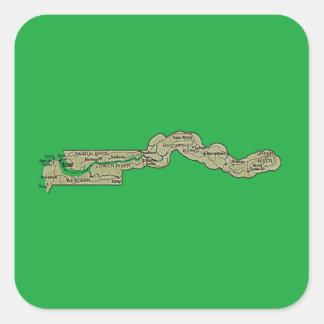 Gambia kartaklistermärke fyrkantigt klistermärke