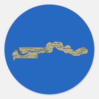 Gambia kartaklistermärke runt klistermärke