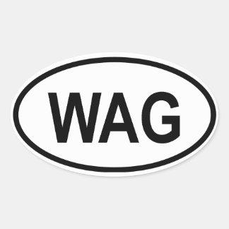 """Gambia """"WAG """", Ovalt Klistermärke"""