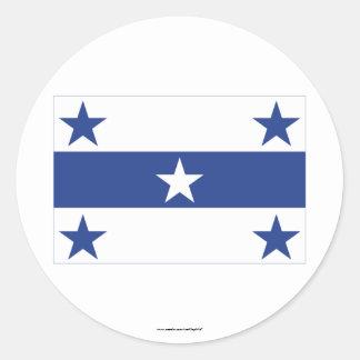 Gambier öflagga runt klistermärke