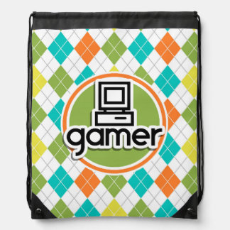 Gamer; Färgrikt Argyle mönster