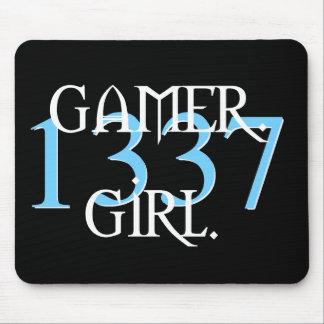 Gamer. Flicka. Mousepad 1337 Musmatta