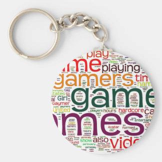 Gamer för alla rund nyckelring