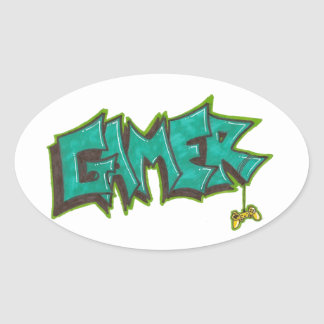 Gamer Ovalt Klistermärke