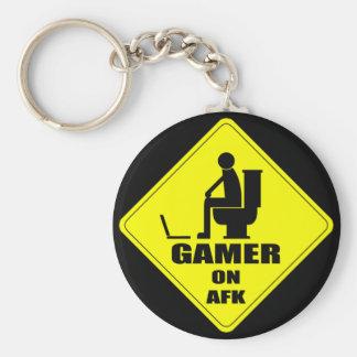 Gamer på AFK-serie Rund Nyckelring