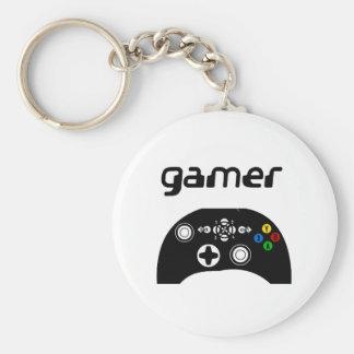 gamer rund nyckelring