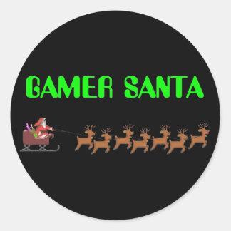 Gamer Santa Runt Klistermärke