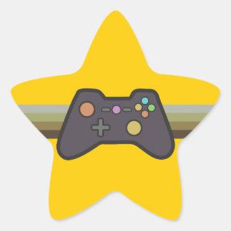 Gamer Stjärnformat Klistermärke