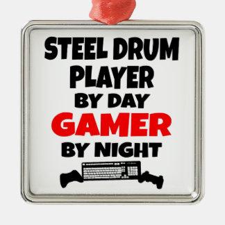 Gameren stålsätter trummar spelare julgransprydnad metall