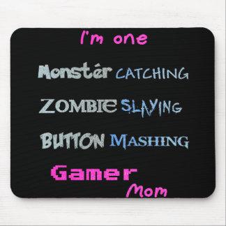 Gamermamma (den glittery textupplagan) musmattor