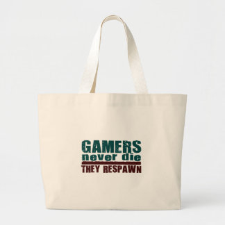 Gamers dör aldrig… jumbo tygkasse