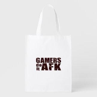 Gamers gör det AFK Återanvändbara Påsar