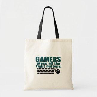 Gamerspress som höger knäppas budget tygkasse