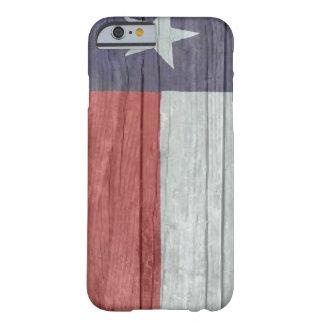 Gammal antik urblekt wood Texas flagga Barely There iPhone 6 Skal