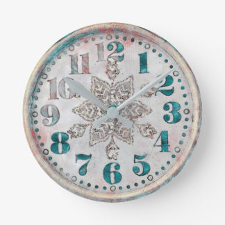 Gammal antik vintage tar tid på rund klocka