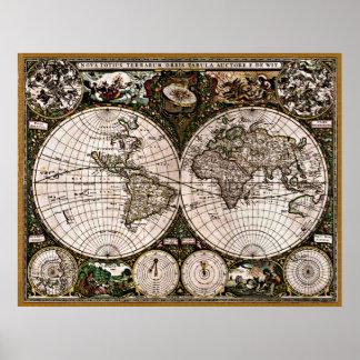Gammal återställd värld Map#3 Poster