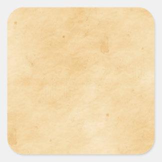 Gammal befläckt fläckig Look för Parchment Fyrkantigt Klistermärke