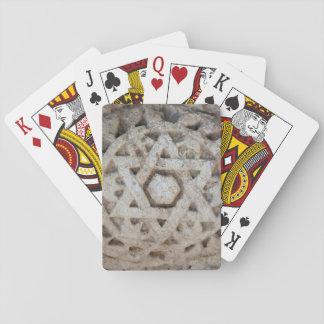 Gammal davidsstjärna som snider, Israel Spelkort