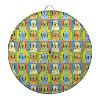 Gammal engelsk Pop-Konst för Sheepdoghundtecknad Darttavla