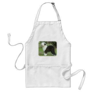 Gammal engelsk Sheepdog 9F055D-17 Förkläde