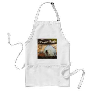 Gammal engelsk Sheepdog för Cafe Förkläde