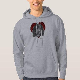 Gammal engelsk Sheepdog med hjärta Sweatshirt Med Luva