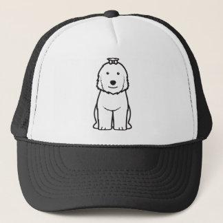 Gammal engelsk Sheepdoghundtecknad Truckerkeps