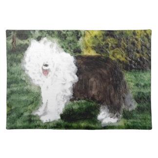Gammal engelsk Sheepdogmålning Bordstablett