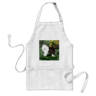 Gammal engelsk Sheepdogmålning Förkläde
