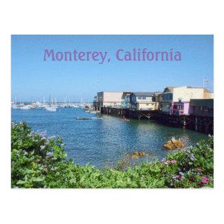 Gammal fiskare hamnplats, Monterey, Kalifornien Vykort