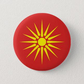 gammal flagga för macedonia land standard knapp rund 5.7 cm