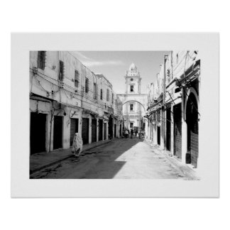 Gammal gata i Tripoli (B&W) Poster